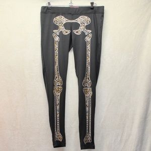 Tipsy Elves Skeleton Leggings Low Rise